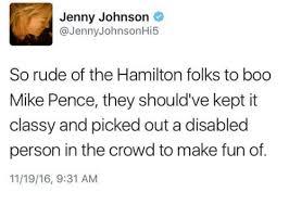 Hi5 Meme - jenny johnson johnson hi5 so rude of the hamilton folks to boo mike