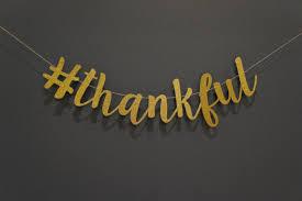 hashtag thankful gold glitter script banner thanksgiving