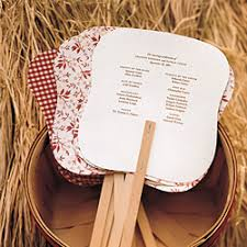 Hand Fan Wedding Programs Wow With These Wedding Programs