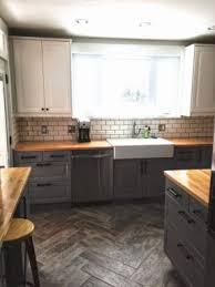 Grey Oak Kitchen Cabinets 25 Best Butcher Block Countertops Ideas On Pinterest Butcher