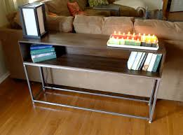 Diy Sofa Table Ideas Furniture Light Wood Hemnes Sofa Table For Inspiring Home