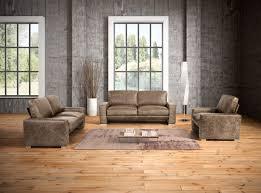 salotti java modern taupe italian leather sofa set