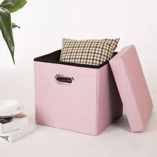 pink ottomans footstools and poufs ebay