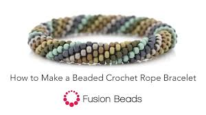 beaded rope bracelet images Learn how to make a beaded crochet rope bracelet by fusion beads jpg