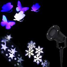 christmas lights outdoor led snowflake projector light star