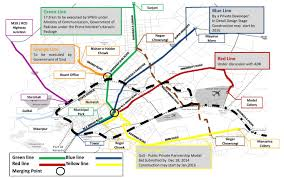 Metro Red Line Map by Karachi Public Transport Skyscrapercity