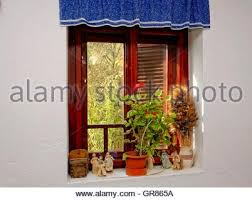 decorated windows in wooden house the of goritzy