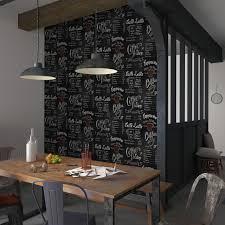 papier peint 4 murs cuisine papier peint coffee ardoise coloris noir carmin papier peint