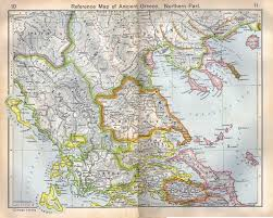 A Map Of Ancient Greece by Greecedana Sculpture Period 1