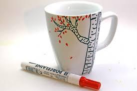 Tree Mug How To Paint A Coffee Mug Home Crafts Craftbits