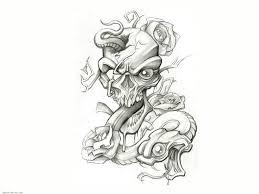 flaming heart dagger tattoo design