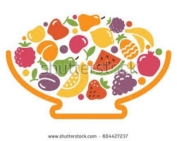Bowl Of Fruits Stylized Image Bowl Fruit Stock Vector 604427237 Shutterstock
