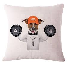 decorative dog cushion pillows cartoon motorbike surf dogs print