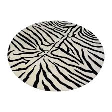 Overstock White Bookcase by 65 Off Overstock Overstock Round Zebra Shag Rug Decor