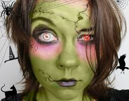 halloween make up tutorial mit lidschatten hexe witch