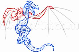 draw dragon skyrim step step video game