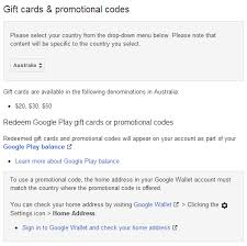 redeem play gift card play store promo codes and gift cards coming to australia