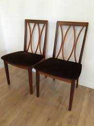 G Plan Dining Chair Vintage 1970 U0027s Set Of 4 G Plan Dining Chairs Designed By E Gomme