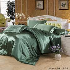 Army Bed Set Aliexpress Buy Solid Army Green Satin Silk Bedding Set