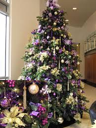 tree decorations purple decorating