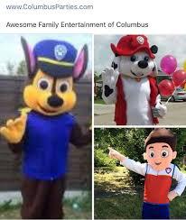 party rentals columbus ohio paw patrol character rentals columbus ohio www columbusparties
