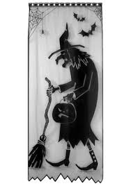 amazon com decorative black witch silhouette scenic halloween