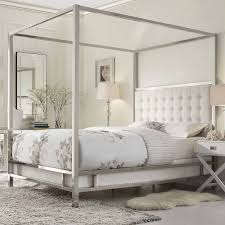 53 white canopy bed frame full size antique white metal canopy