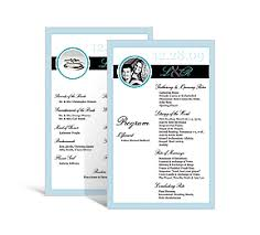 unique wedding programs rectangle wedding programs 5 x 7 875 diy unique wedding programs