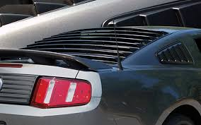 mustang rear louvers ford mustang egx rear window louver kit 2005 2014 e g classics