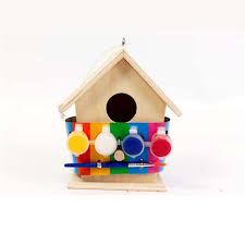 paint your own wooden bird home house nest box and craft