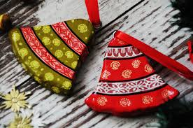 handmade paper machier christmas ornaments made by pattachitra