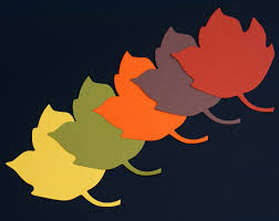 wishing thanksgiving autumn leaf die cuts large paper maple leaves fall wedding