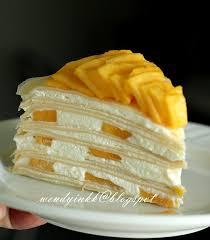 Kek Mango table for 2 or more mango mille crepe cake