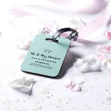 luggage tags wedding favors personalised wedding luggage tag by coconutgrass