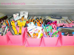 Organizing Store House Revivals How To Organize Crafts With Dollar Store Supplies