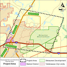 Northwest Florida Map by Fdot Thomasville Road Planning Study 222593 5 Florida