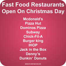 fast food places open on food