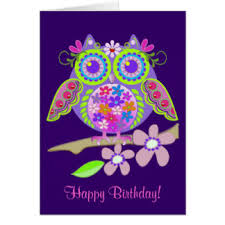 flower power happy birthday greeting cards zazzle