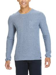 mens loose knit crew neck jumper by bench ebay