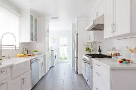 galley style kitchen design ideas kitchen design magnificent cool galley kitchen all white