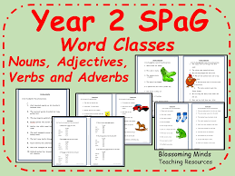 year 2 spag sats revision grammar word classes by