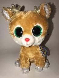 ty beanie boo reindeer alpine gold antlers hang tag ebay
