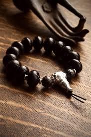 bracelet beads silver images Black mens bracelet silver guru bead pillow book design jpg
