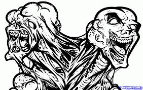 zombie face colouring pages gekimoe u2022 37810