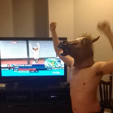 Meme Horse Head - shirtless jogger in horse mask emerges as hurricane s best viral celeb