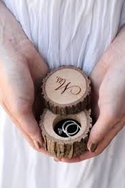engraved pillows personalized rustic wood ring bearer pillow box alternative tree