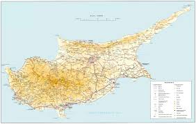 Map Of England With Cities by Road Map Of Cyprus Tourist Map Of Cyprus Maps Of Districts In