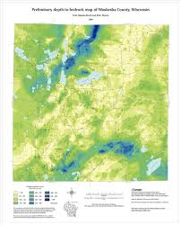 County Map Wisconsin by Wisconsin Geological U0026 Natural History Survey Preliminary Depth