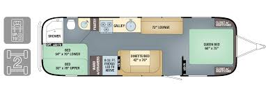 2 Bedroom Travel Trailer Floor Plans Floorplans Flying Cloud Airstream