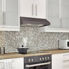 white kitchen cabinets and black stainless steel appliances vissani 30 in w 7 in 370 cfm the cabinet range